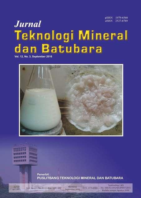 Jurnal Teknologi Mineral dan Batubara Edisi September 2016