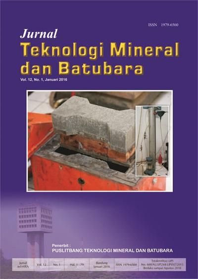 Jurnal Teknologi Mineral dan Batubara Edisi Januari 2016